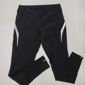 Nike Black Full length Leggings Zippered Ankles M
